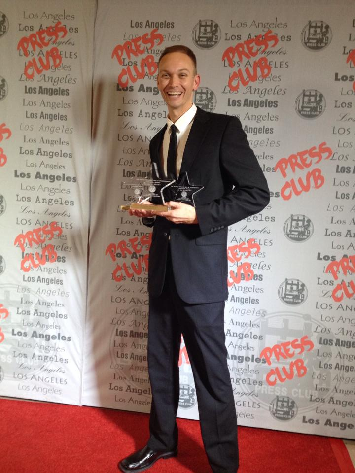 Amazing night at the 2014 L.A. Press Club National Arts & Entertainment Journalism Awards.