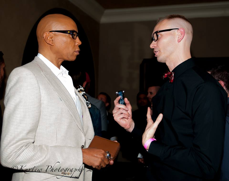 Interviewing RuPaul at the 'Drag Race' Season 8 premiere.