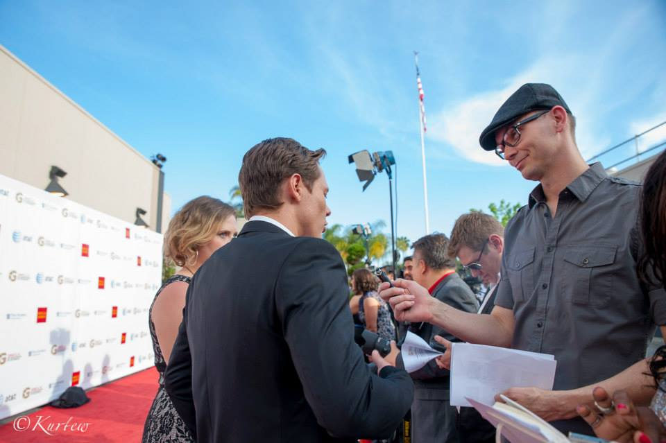 Catching up with 'Days of Our Lives' star Guy Wilson at the GMCLA Voice Awards.