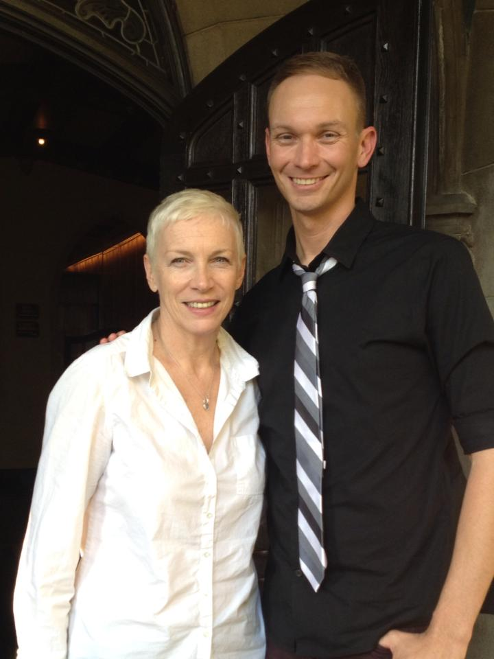 Interviewing Annie Lennox at the Chateau Marmont in West Hollywood.