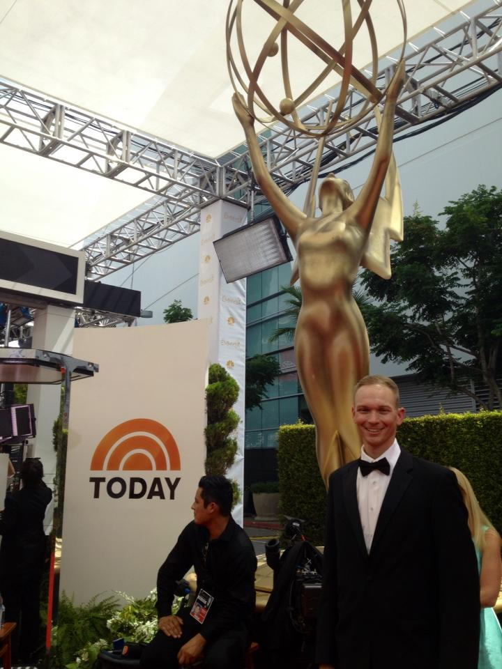 Arriving at the 2014 Emmy Awards.