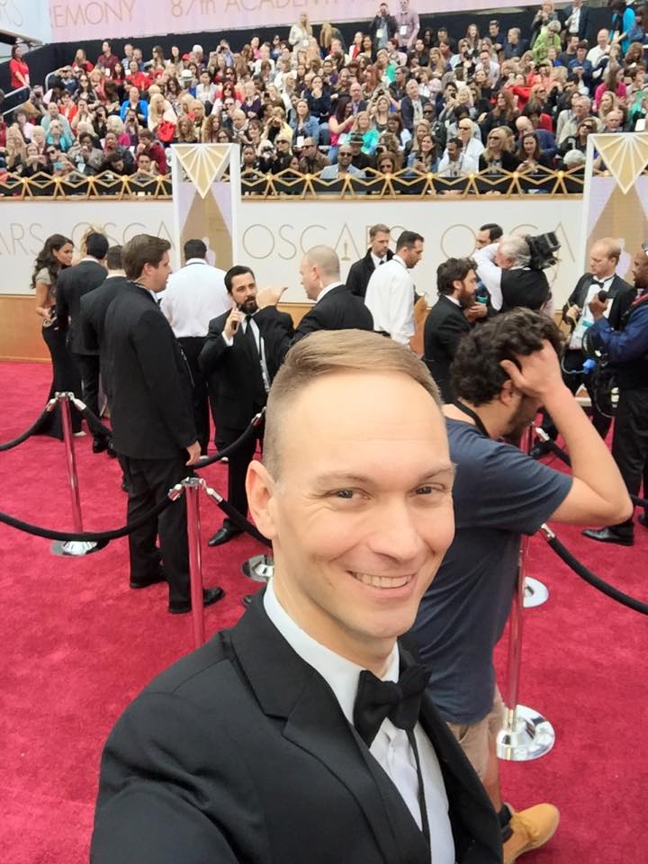 In the eye of the storm before red carpet arrivals at the 2014 Oscars.