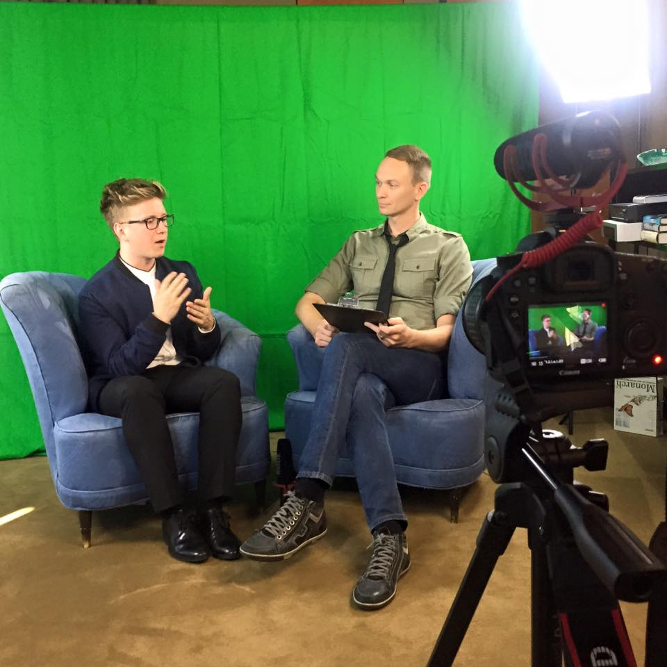 Sitting down for a chat with Tyler Oakley.