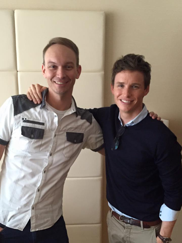 Interviewing Eddie Redmayne at the 2015 Toronto International Film Festival.