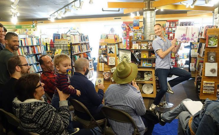 Reading 'Square Zair Pair' at Books Inc in San Francisco.