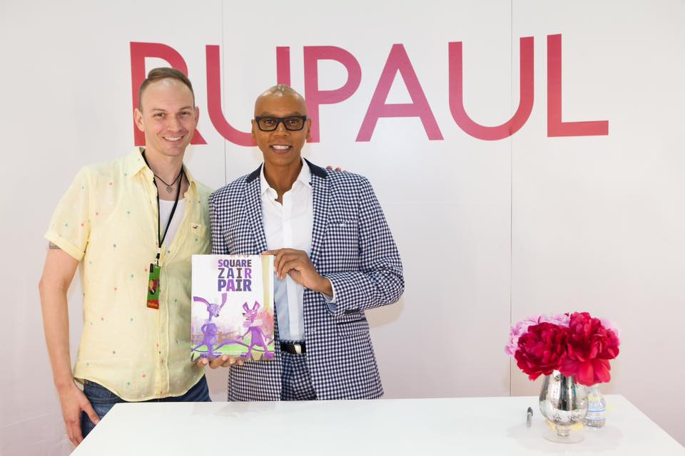 Thrilled RuPaul owns a copy of 'Square Zair Pair.'